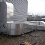 Dämmung der Lüftungsanlagen mit Mineralwolle und Aluminiumblech
