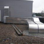 Dämmung der Lüftungsanlagen mit Mineralwolle und Aluminiumblech_2
